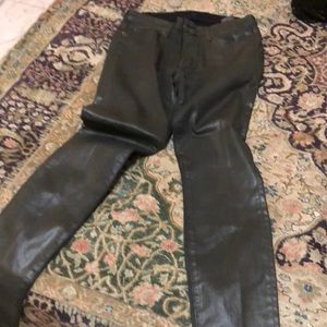 7 for all mankind leather look skinny